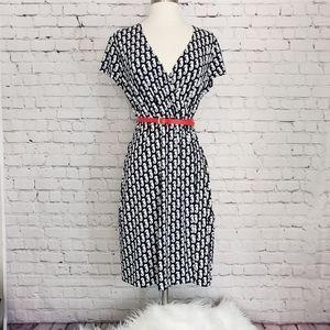 Brooks Brothers Jersey Knit Faux Wrap Dress Size S